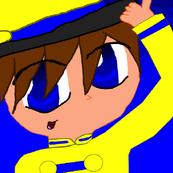 Raincoat Guy in anime style