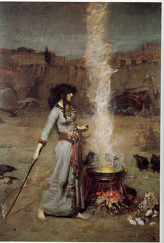 File:John William Waterhouse- Magic Circle.jpg