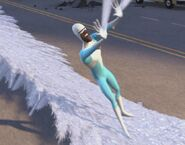 Frozone shooting Ice