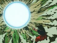 Super spirit bomb used by goku