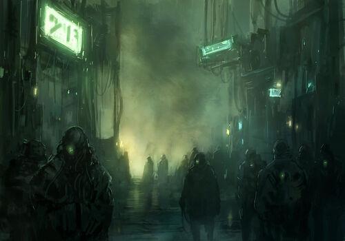 In a shadow of the cyberpunk 01 by darkenter-d5i92m1