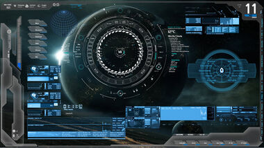 Blue tech future tech rainmeter zerox project by zeroxproject-d7hw4wn