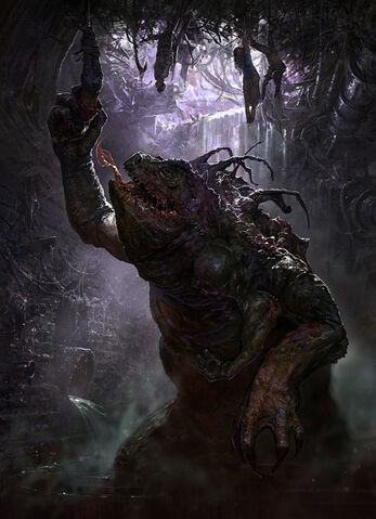 File:640x884 4 Swamp dwelling monster 2d horror monster creature picture image digital art.jpg