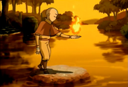 Aang Training Fire