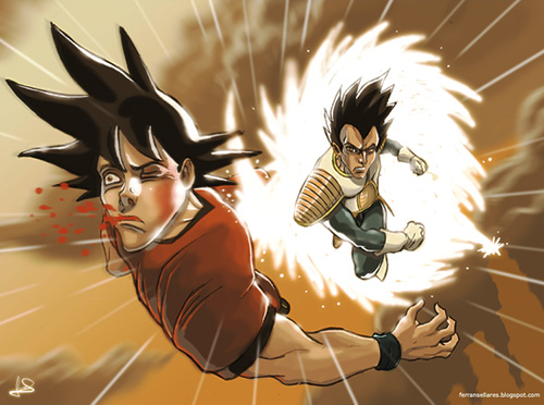 File:Vegeta vs goku dragon ball art painting.jpg