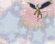 Pegasusmon usando lluvia de estrellas