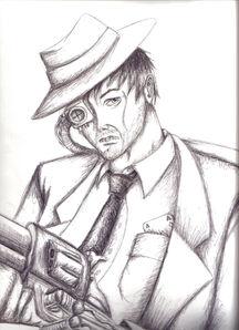Gangster cyborg by joed rtman
