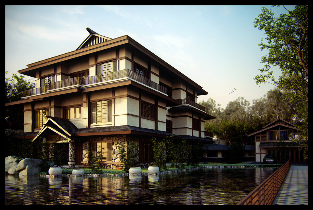 Japanese House Design On Town Line Road Image Japanese House By Superpower Wiki