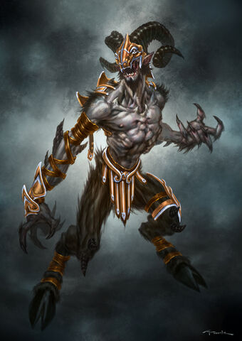 File:God of War III Armored Satyr by andyparkart.jpg