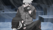 Kakashi Using Kamui on Himself