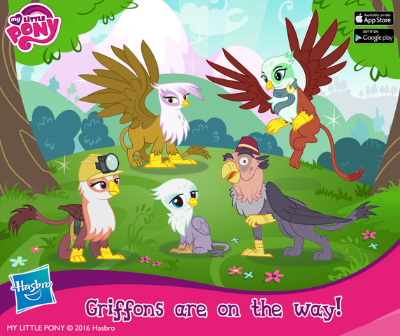 File:Griffons promo image MLP mobile game.png