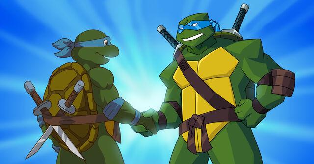 File:TurtlesForever Leo Meets Leo by E Mann.jpg