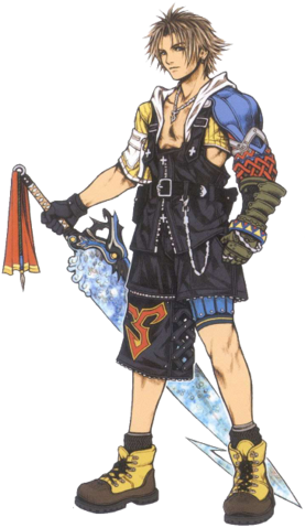 File:FFX Artwork Tidus.png