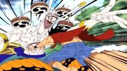 Luffy pounding Enel