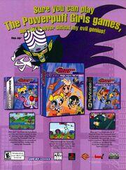Powerpuff Girls Video Games print ad NickMag June July 2002
