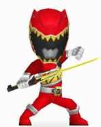 Red Dino Charge Ranger In Power Rangers Dash