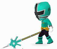 Green Samurai Ranger In Power Rangers Dash