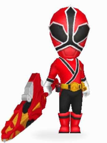 File:Red Samurai Ranger In Power Rangers Dash.jpg