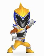 Gold Dino Charge Ranger In Power Rangers Dash