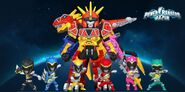 Power Rangers Dino Super Charge in Power Rangers Dash