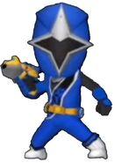 Blue Ninja Steel Ranger in Power Rangers Dash