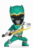 Green Dino Charge Ranger In Power Rangers Dash