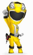 Yellow RPM Ranger in Power Rangers Dash