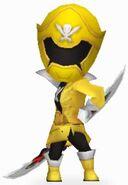 Yellow Super Megaforce Rangers In Power Rangers Dash
