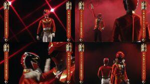 Red Senshi Handover- Goseiger - Gokaiger