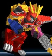 Dino Charge Megazord in Power Rangers Dash