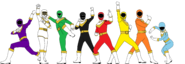 Power Rangers Shape Madness (8 Rangers)