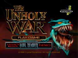 The unholy war title screen
