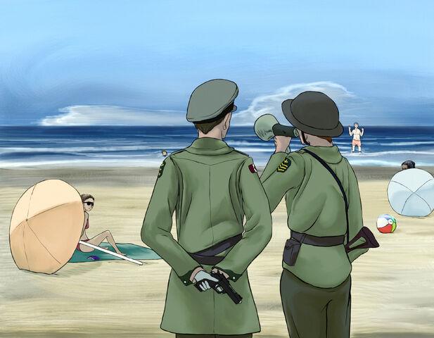 File:Beach is closed.jpg