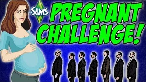 The Sims 3 - MY FACE?! Pregnant Challenge 16