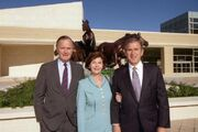 George H. W. Bush, Laura Bush, George W. Bush 1997