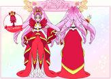 Cure Scarlet Phoenix Mode Elegant