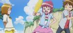 Megumi holding corn