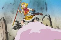 Yayoi as Sun Wukong in the movie