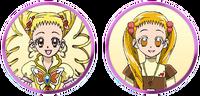 Yes! Pretty Cure 5 GoGo! Urara and Cure Lemonade faces