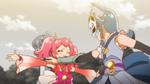 PCDS Sakura protects Ichika from Samidare