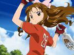 Odajima Yuka playing Lacrosse