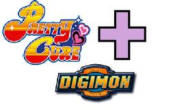 Pretty Cure + Digimon Logo