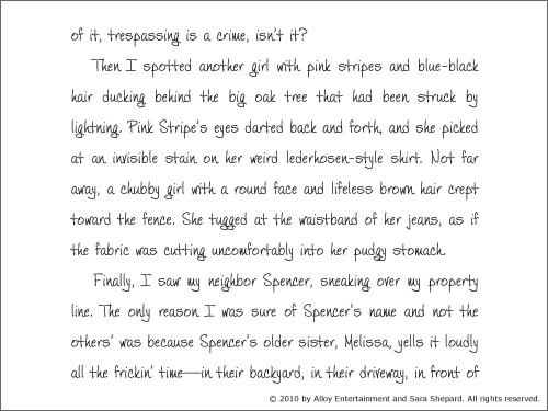 sara shepard perfect book pdf