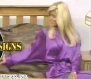 Teri Harrison in Satin Sleepwear-5