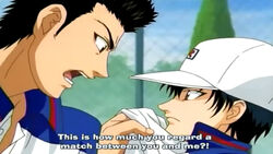 Momo angry echizen