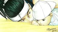 Ryoma with his father as a baby