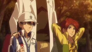 Ryoma and Kintaro with Coach Saitou