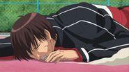 Yanagi getting crushed by Mitsuya