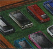 Just a small part of Atobe's phone collection