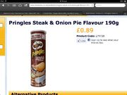 Pringles steak and onion pie